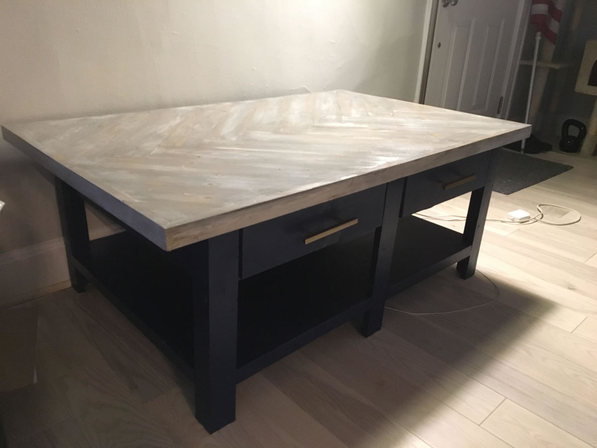 Ana White Chevron Coffee Table DIY Projects