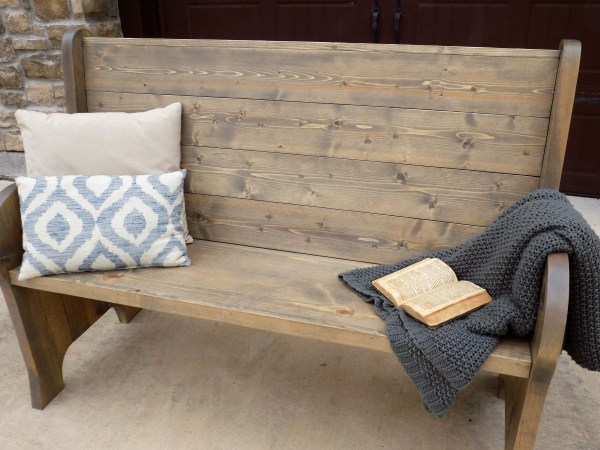 Ana White   Church pew style entry bench - DIY Projects