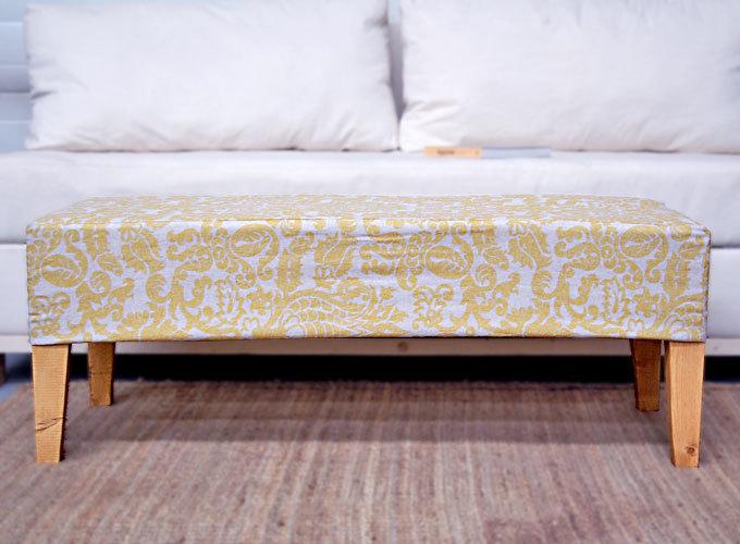 easiest upholstered bench ana white