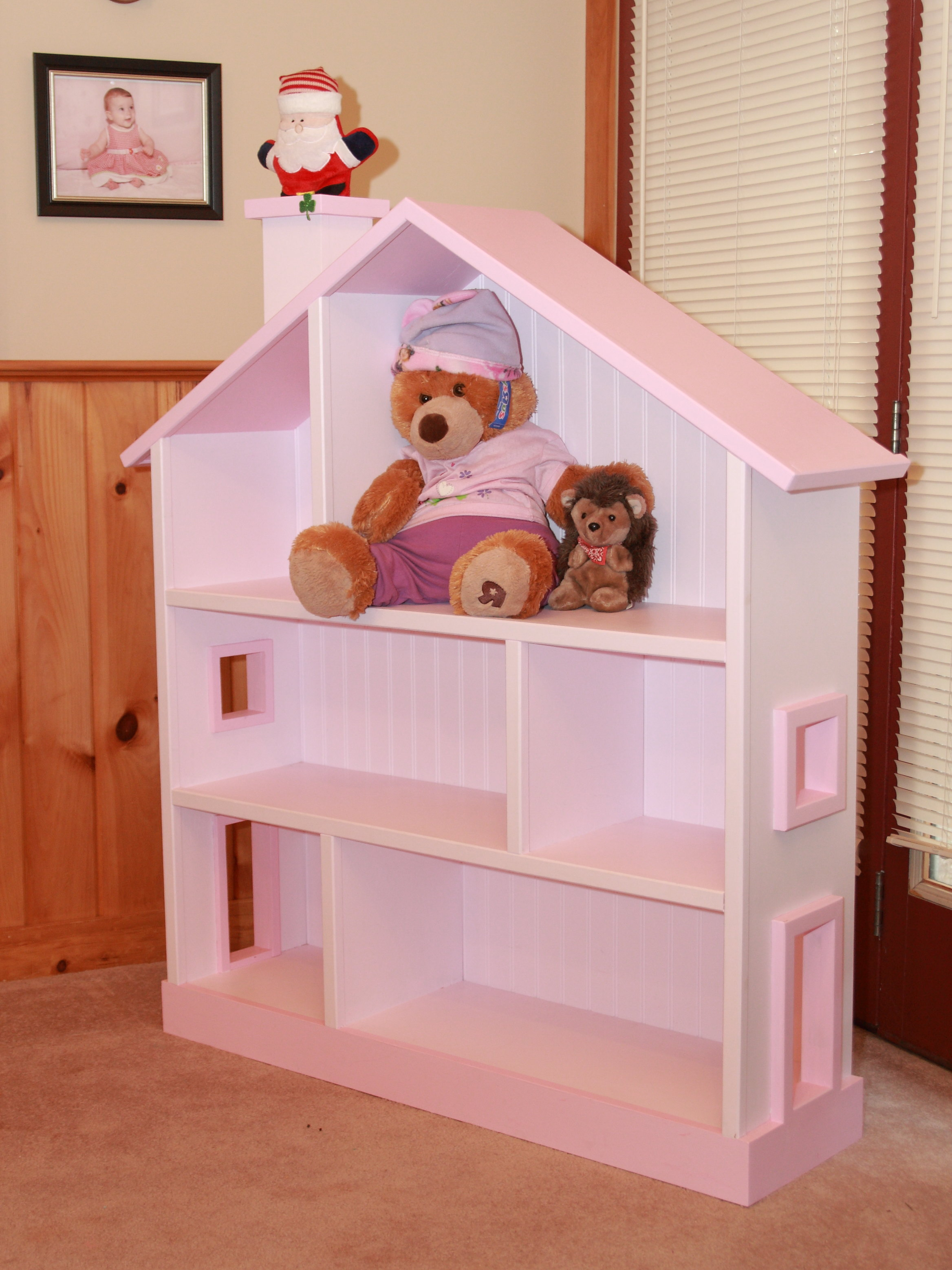 Ana White Dollhouse Bookcase From Santa S Workshop Diy