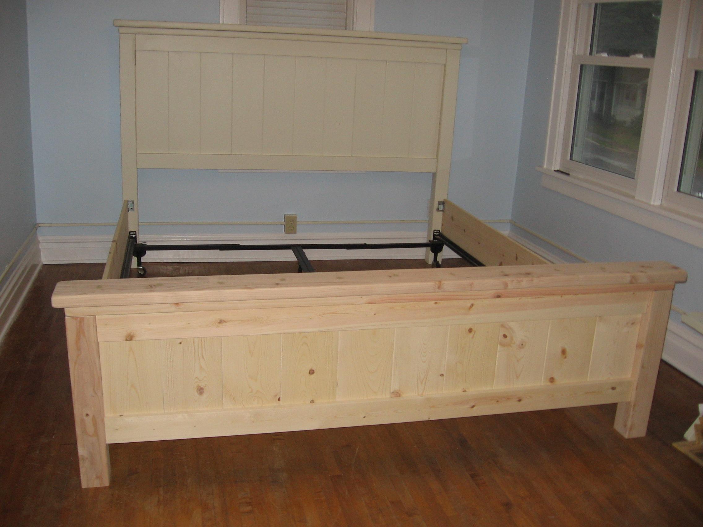 Ana White Farmhouse Bed King Size