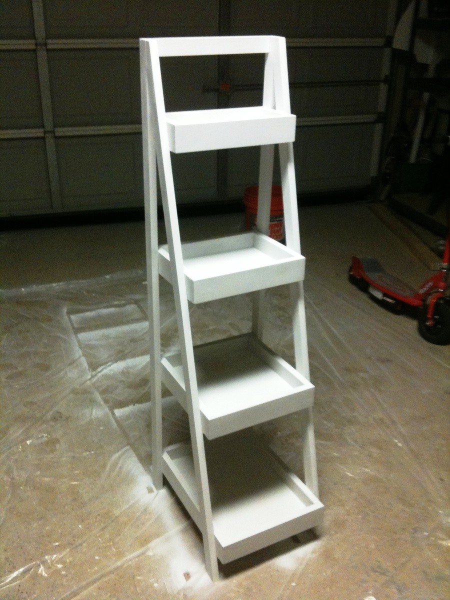 Painters Ladder Shelf My First Ana White Project Ana