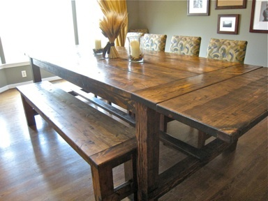 Ana White Farmhouse Table Restoration Hardware Replica