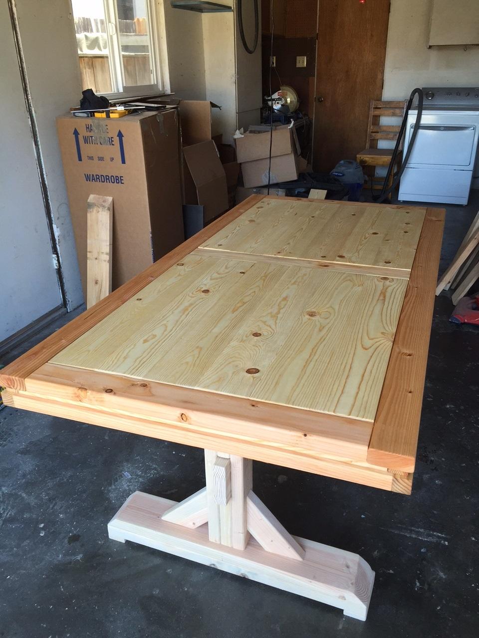 Ana White Double Pedestal Farmhouse Table Small DIY