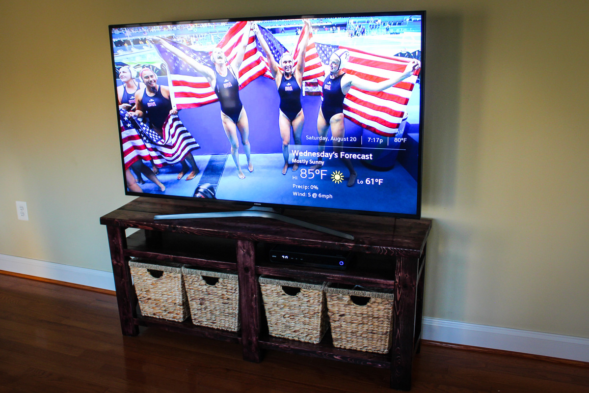 Ana White Rustic TV Stand DIY Projects