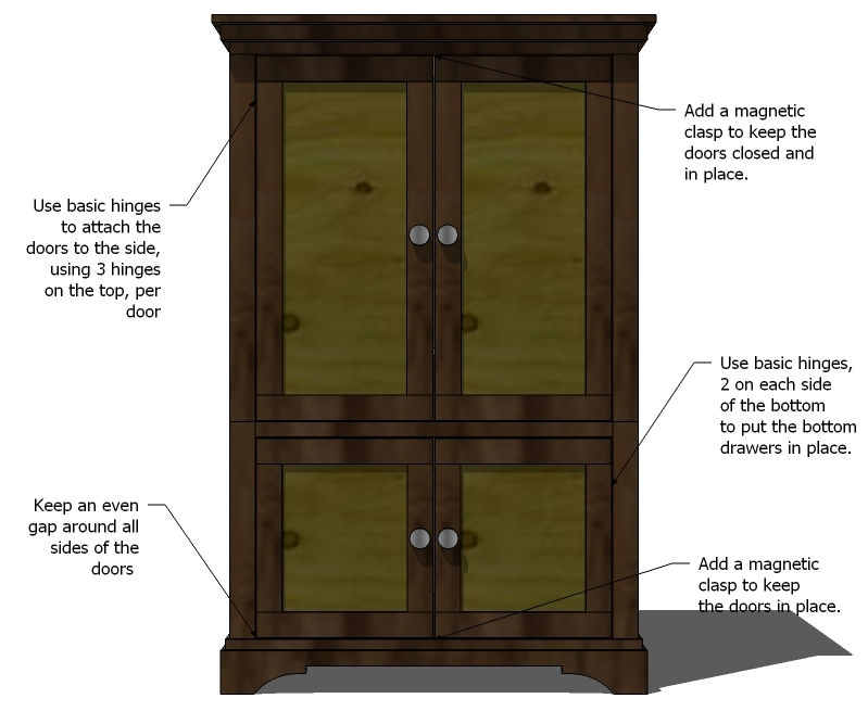 Ana White   Build a Beautiful Nursery Armoire   DIY Projects Step 12
