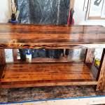 Rustic Burned Table Ana White