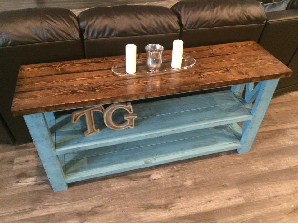 Ana White   Rustic X Sofa Table   DIY Projects Rustic X Sofa Table
