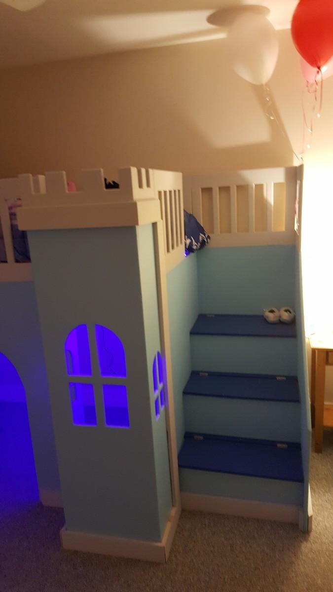 Ana White Castle Loft Bed Quot Frozen Quot Themed Diy Projects