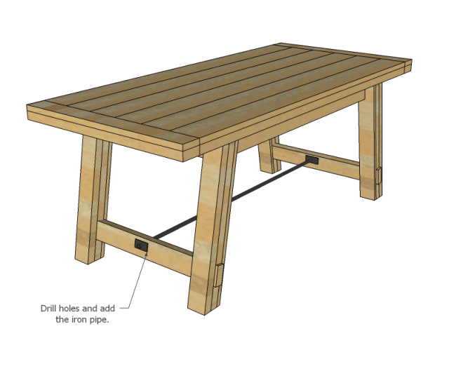 Derang: Farmhouse bench woodworking plans Here