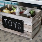 Gray Wooden Toy Box Cheap Online