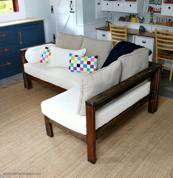 Ana White Kids Couch 2x4 Diy Sectional With Crib Mattress