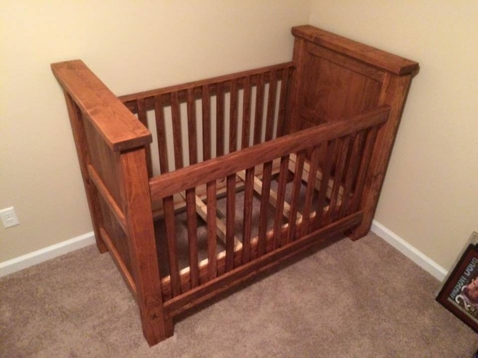Ana White Rustic Baby Crib DIY Projects