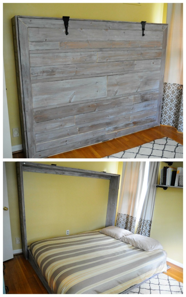 Rustic Queen Sized Wall Bed Ana White