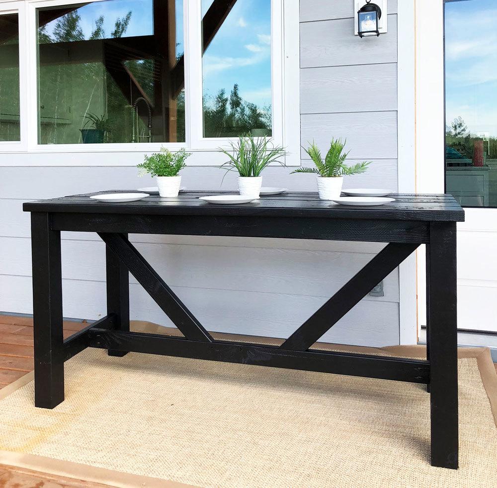 outdoor bar table ana white