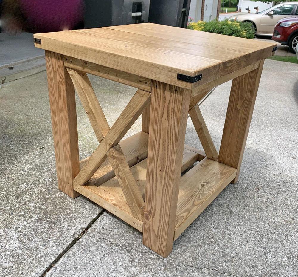 farmhouse side table ana white
