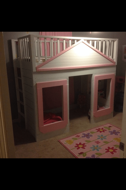 Ana White Little Cottage Loft Bed DIY Projects
