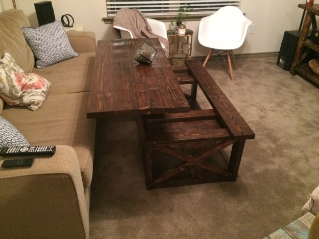 ana white | diy lift top coffee table - rustic x style - diy projects
