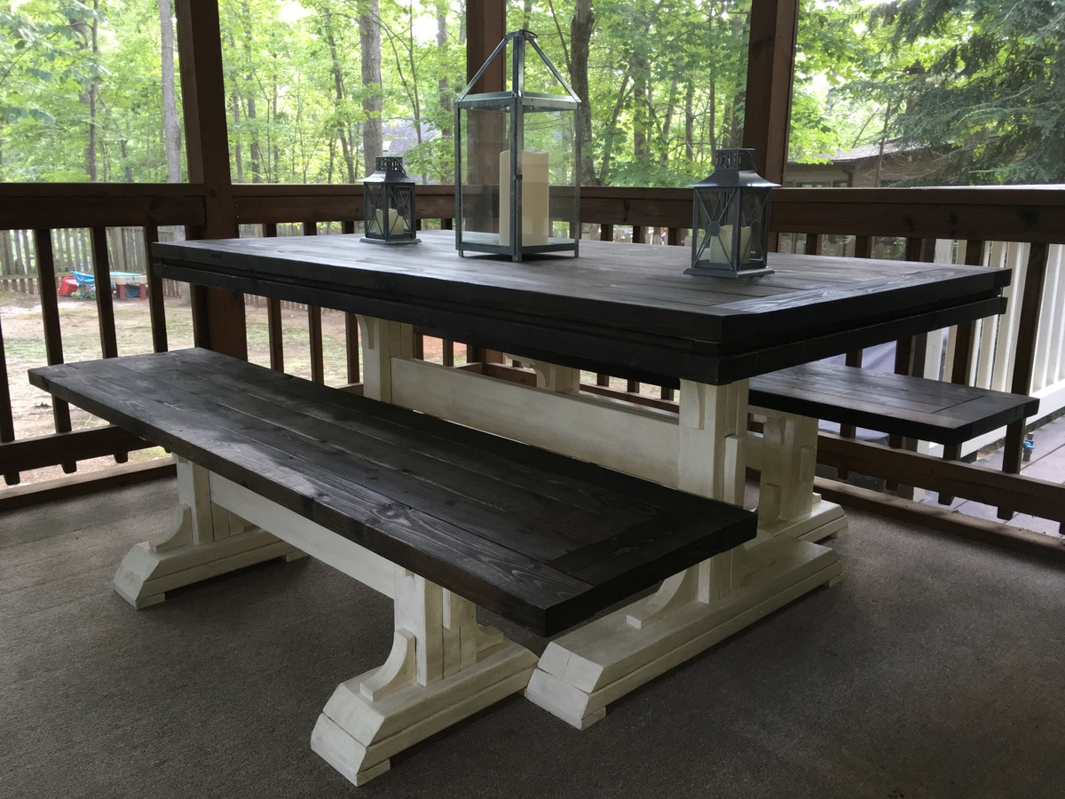 Ana White 6ft Farmhouse Table DIY Projects