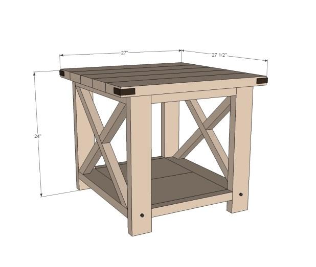Diy Rustic Wood End Table: Diy Rustic End Tables