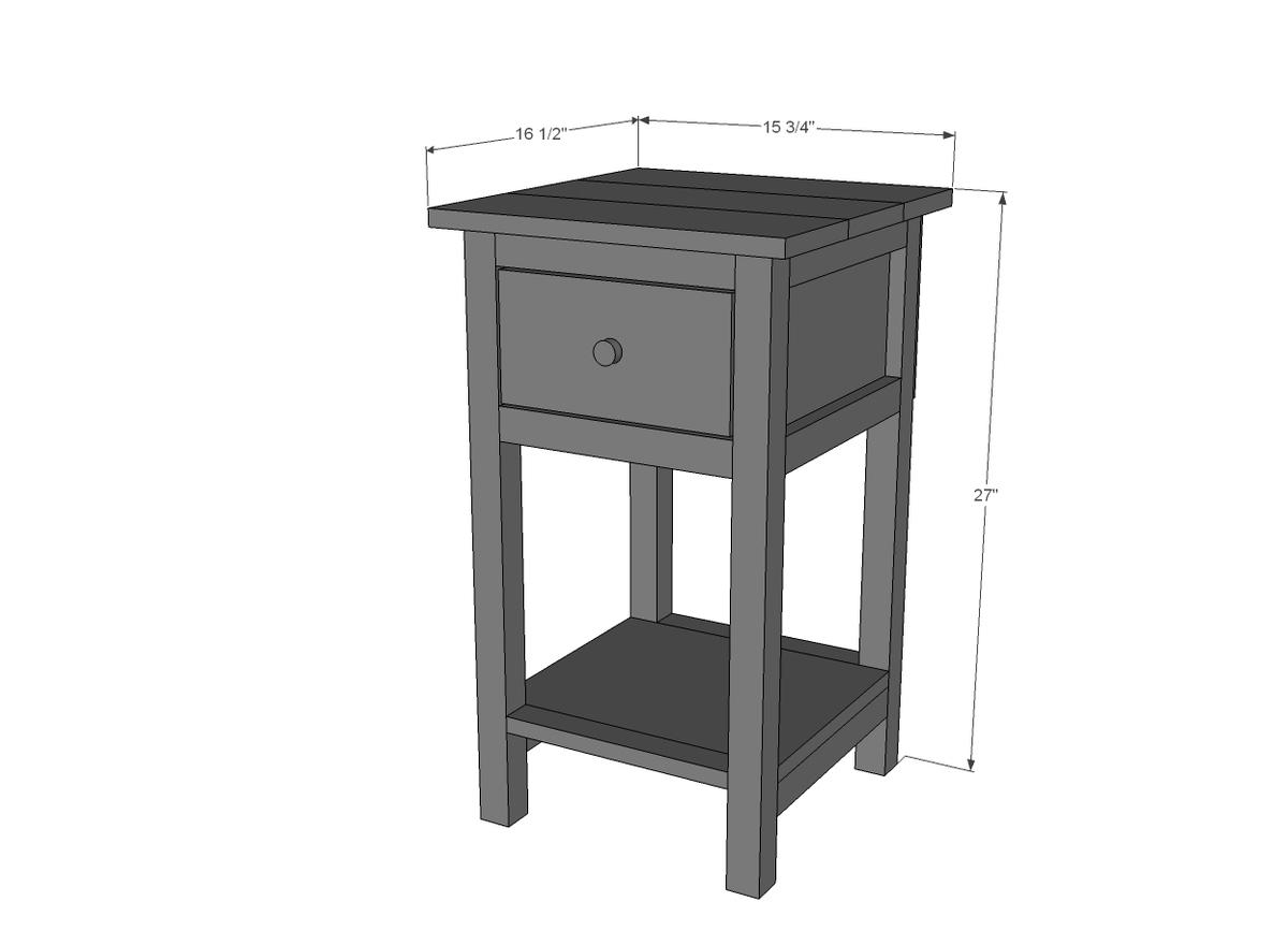 Mini Farmhouse Bedside Table Plans Ana White