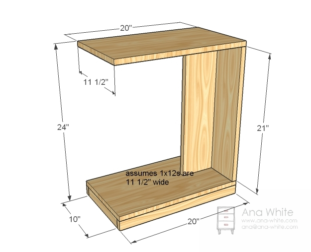 Sofa Snack Table Plans Catosferanet