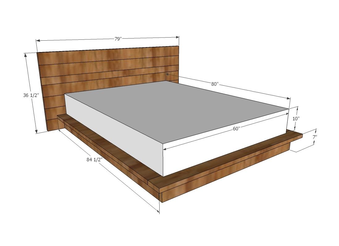 Ana White Rustic Modern 2x6 Platform Bed