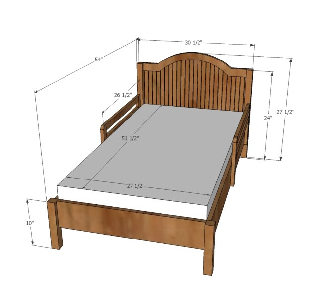 Traditional Wood Toddler Bed