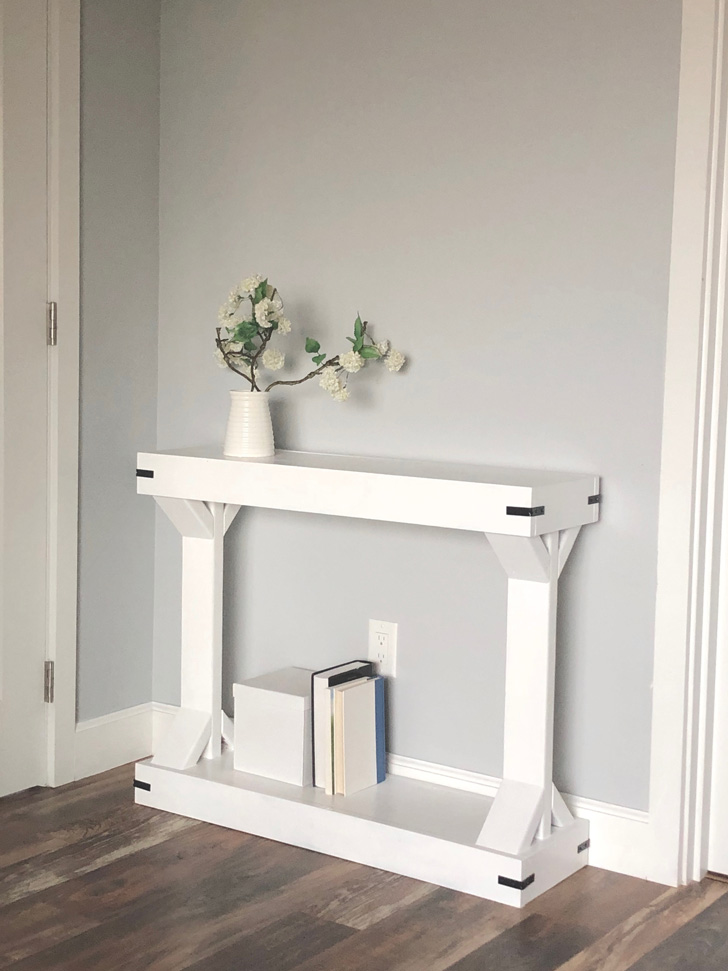 Narrow Console Table Modern Farmhouse Collection Ana White