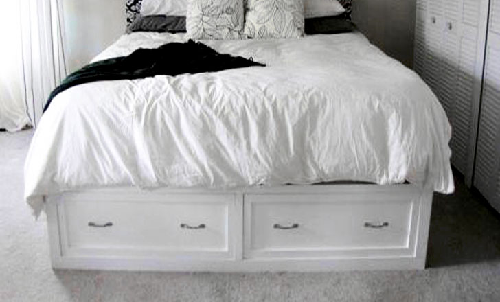 classic storage bed queen ana white