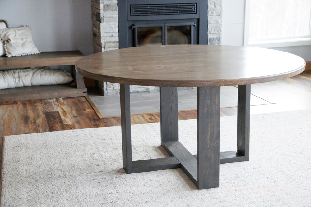 60 round dining table top ana white