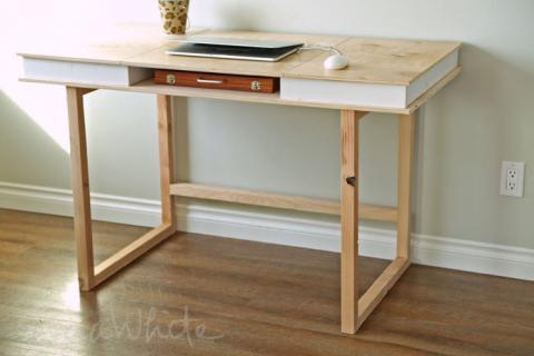 modern 2x2 desk base for build your own