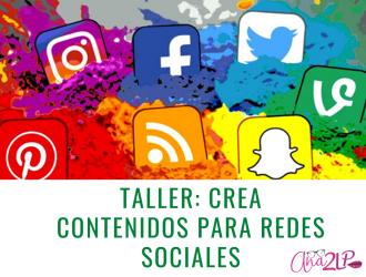 Crea contenidos para redes sociales