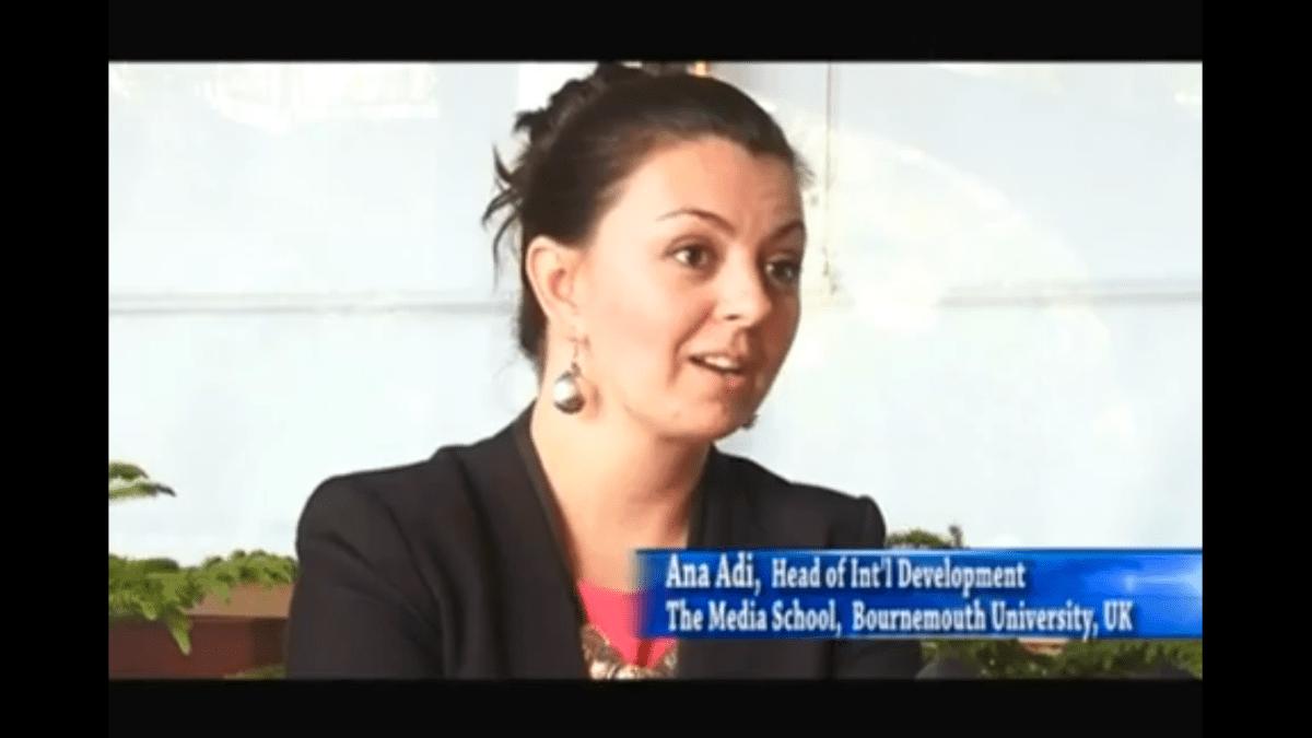 Bournemouth University highlight on Nepali TV