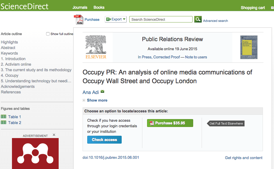 New publication: Occupy PR