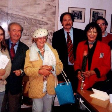 Cu prof. Lorenzo Renzi, Marissa Zanzotto, prof. Roberto Scagno si prof. Bruno Mazzoni dupa o lectura la Universitatea din Padova