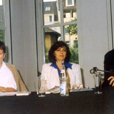 Lectura publica la Frankfurt (translatoare prof. Liane Focsa)