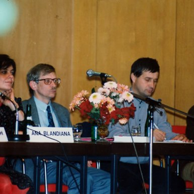 Lectura publica la Dusseldorf, alaturi de Peter Motzan, Mircea Dinescu si Werner Solner