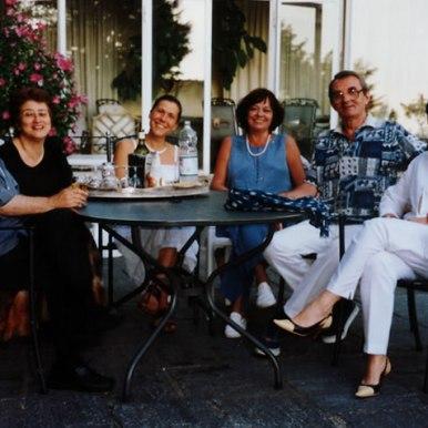 2001, Chateau de Lavigny impreuna cu poetul portughez Fernando Echeveria