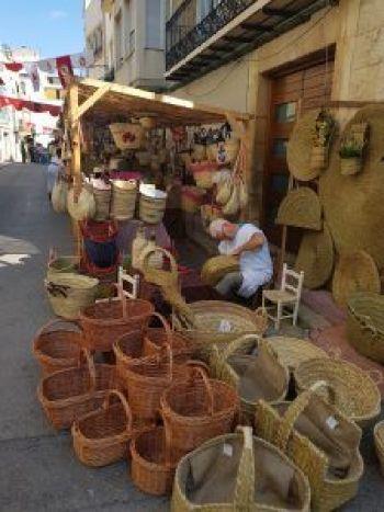 Puestos de cestas