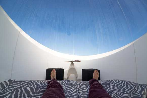 Lying down in the Bubble Hotel