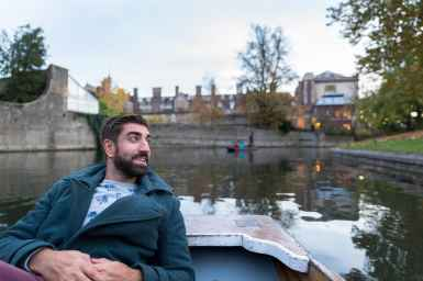 Going punting on the River Cam in Cambridge