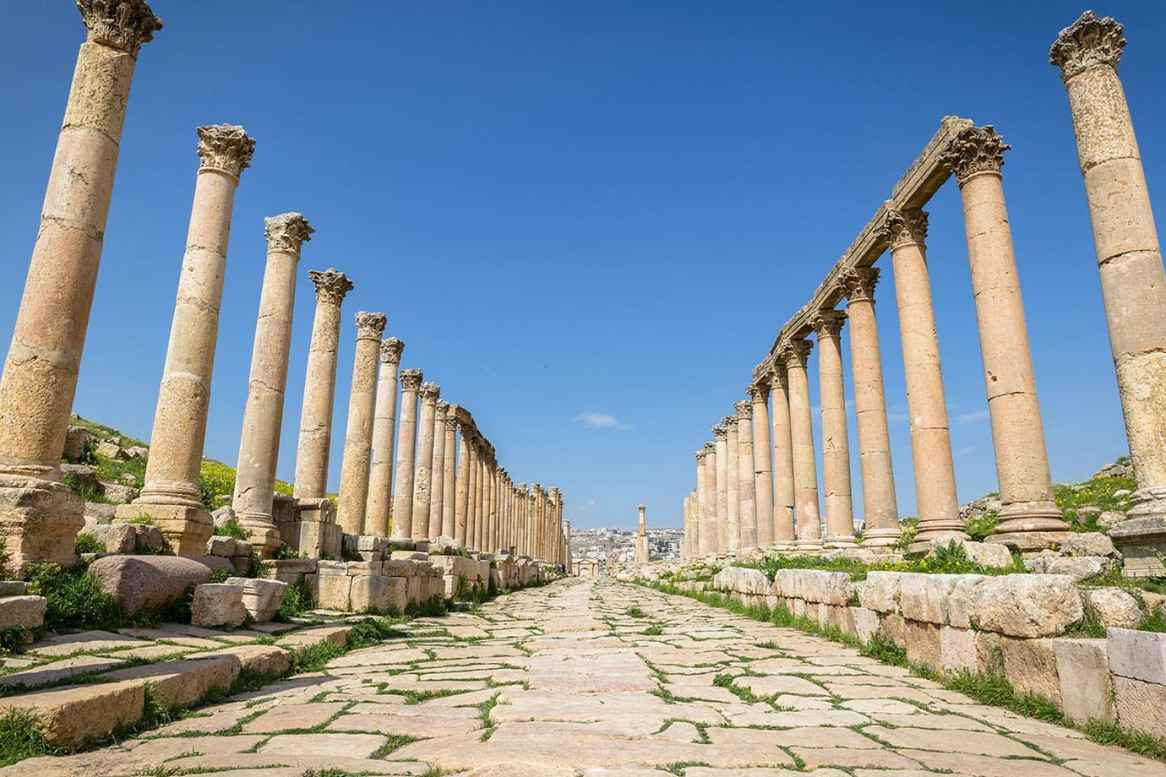 The streets of Jerash, Jordan