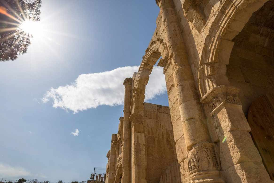 Entrance at Jerash, Jordan
