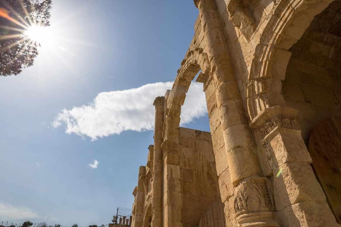 Entrance at Jerash, Jordan