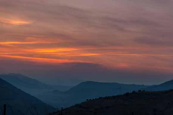 Sunset in the Douro Valley, Portugal