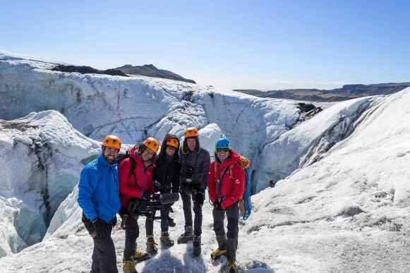 Ice climbing group, Iceland