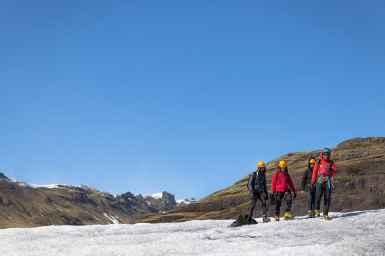 Hiking on Sólheimajökull glacier, Iceland