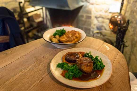 Food at the Ebrington Arms, the Cotswolds