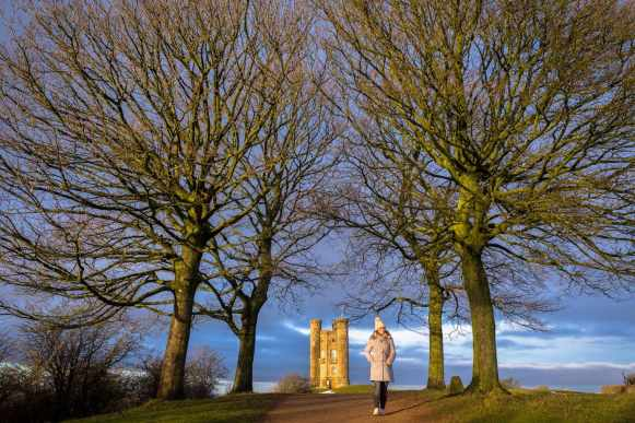 Walking at Broadway Tower, the Cotswolds